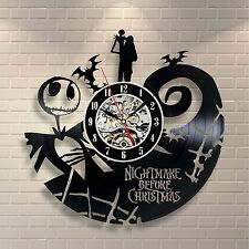 The Nightmare Before Christmas Jack Skellington Gift Wall Clock Story Art Design