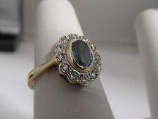 36J 9CT Gold Vintage Topaz and Zirconia Ladies Ring