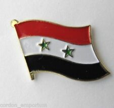 SYRIA NATIONAL COUNTRY WORLD FLAG LAPEL PIN BADGE 1 INCH