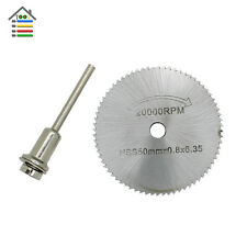 1pc 50mm HSS Saw Blade Cutting Cut Off Wheel Disc w/1 Mandrel Fit Dremel Tool