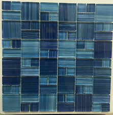 ASF-21 TURQUOISE BLUE Mini Pattern Glass Mosaic Tile Kitchen Backsplash