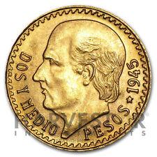 MEXICAN GOLD 2 1/2 PESOS - RANDOM YEAR COIN - GOLD MEXICAN 2.5 PESO .0603 AGW