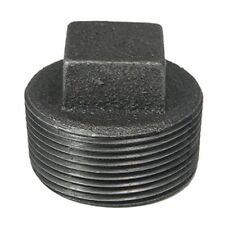 """1/2"""" BLACK MALLEABLE IRON PLUG fitting pipe npt - LOT OF 10"""
