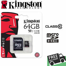 Genuine KINGSTON 64GB SDXC MICRO SD CARD MEMORY CLASS 10 CAMERA MOBILE TABLET