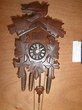 German Black Forest made Vintage  working musical 1 Day Cuckoo Clock CK1108