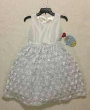 NEW AMERICAN PRINCESS FORMAL DRESS WHITE WEDDING FLOWER GIRL PLUS SIZE 12.5