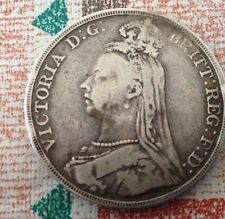 Rare And Very Collectable Victoria Silver Crown - 1889. With Plastic Wallet