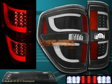 09-14 Ford F150 XL XLT STX Black Housing LED Tail Lights G2 + 3rd Brake Light