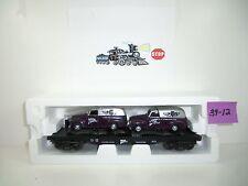 Rail King MTHRRC Flatcar w/Ertl '51 Panel Vans #30-76002 LNIB 39-12