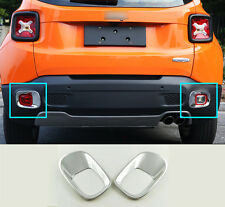 ABS Chrome Rear Fog Light Lamp Cover Trim 2pcs for Jeep Renegade 2015 2016