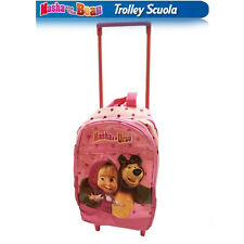 MASHA E ORSO trolley 35 cm con pattina plastificata