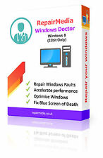 Windows 8 Doctor dati riparazione recupero la reinstallazione DVD SOFTWARE PC (32bit)