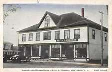 New London New Hampshire Post Office General Store Antique Postcard K11153