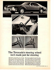 1966 OLDSMOBILE TORONADO / TILT & TELESCOPE STEERING WHEEL ~ ORIGINAL AD