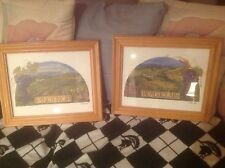 Wine Country Vineyard Framed Pictures 14 X 16 Pino Noir & Beaujolais Set Of 2