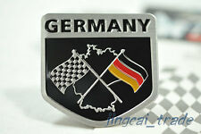 Germany Chequered Flag Shield Shape Aluminium Decal Badge Emblem VW Audi BMW Car