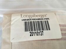 Awning Stripe FABRIC LINER ONLY for Longaberger Back Porch Basket New