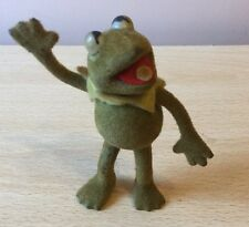 Vintage HCF Kermit the Frog Flocked Felt Figure . The Muppets