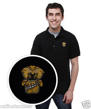 STAR WARS CHEWIE Polo Rugby Shirt Chewbacca Wookie Adult LARGE Black New