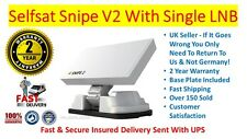 Snipe V2 Version 2 Selfsat Camping Motorhome Caravan Satellite Dish Single LNB