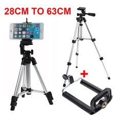 Professional Camera Tripod Stand Mount + Phone Holder for Phone iPhone Samsung S
