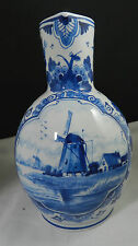 ROYAL DELFT DE PORCELEYNE FLES WINDMILL SCENE PETCHER EWER 8""