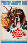 """""""5 MILLION YEARS TO EARTH"""" ...Vintage Sci-Fi """"B"""" Movie Poster A1A2A3A4Sizes"""