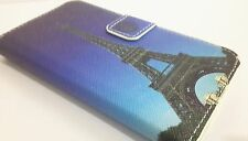 Lovely Eiffel Tower PU Leather Card Holder Wallet Pouch Cover Case for HTC Phone