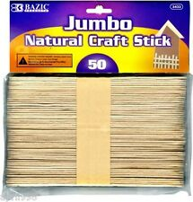 BAZIC Jumbo Natural Craft Stick, Wood, 50pcs Per Pack #3433