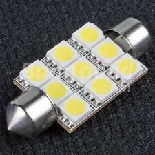 31mm 9 LED Festoon Light Bulb Bright White Interior Boot Map Sunvisor Car