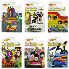 NEW SET 6 BEATLES LIMITED EDITION YELLOW SUBMARINE HOT WHEELS FREE SHIPPING GIFT