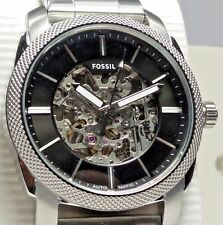 FOSSIL MACHINE AUTOMATIC ME3114 Men's Silver Stainless Steel Watch $245 NEW