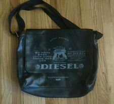 DIESEL Messenger Bag school work black velcro laptop student shoulder strap