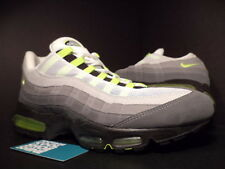 2002 Nike Air Max 95 CHARCOAL COOL GREY NEON YELLOW GREEN WHITE 302214-171 DS 13