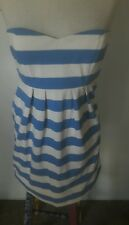 WOMAN'S BEAUTIFUL J CREW BLUE AND WHITE STRIP MINI TUBE DRESS SIZE 0