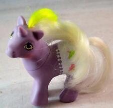 Vintage 1984 My Little Pony G1 Fancy Pants Baby Glider Purple Unicorn