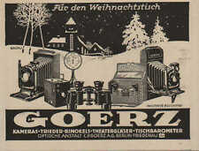 BERLIN, Werbung 1924, C. P. Goerz Optische Anstalt Kamera Theater-Glas Optik