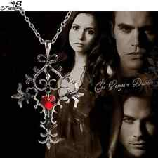 Vintage Gothic The Vampire Diaries Bijouterie Cross Necklace Pendant Gift UK