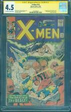 X Men 15 CGC SS 4.5 Stan Lee Signed 1st Master Mold Origin Beast Jack Kirby art
