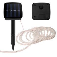 23Ft 50LEDs Solar Tube Light Strip String Lamp LED Outdoor Garden Xmas Decor