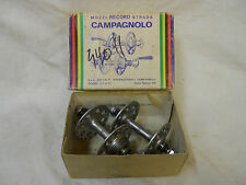 Vintage CAMPAGNOLO HIGH Flange-36H-REAR w/ TRACK Nuts & axles-110mm rear Boxed
