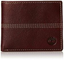 Timberland Sportz Quad Burgundy Genuine Leather Credit Card Bifold Mens Wal
