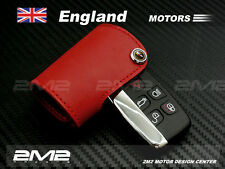 LA04GLeather Keyfob Holder Case Chain Cover FIT For Range Rover Evoque Discovery