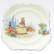 Vintage 1930s 1940s Lancaster L & Sons Crinoline Lady Plate