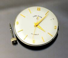 Lord Elgin Watch Movement with 10k Solid Gold Crown & Stem 23 Jewels Caliber 775