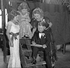 1930s Leslie Jones negative.Circus. A gathering of well-dressed little people