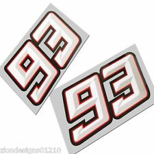 Marc Marquez 93 NEW STYLE 3D EFFECT decals  graphics stickers Moto gp x 2 pieces