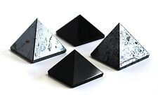 REIKI ENERGY CHARGED ELECTROMAGNETIC POLLUTION SET OF 4 PYRAMID STONES GIFT SET
