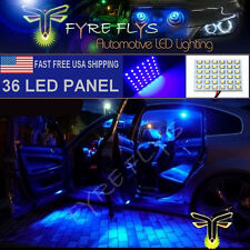1x Super Bright Blue 36 LED Panel Light for Dome, Map, Cargo, Trunk lights #36PB
