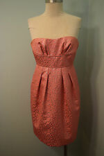 bcbg maxazria dress strapless pink metallic jacquard cocktail formal dress 0 XXS